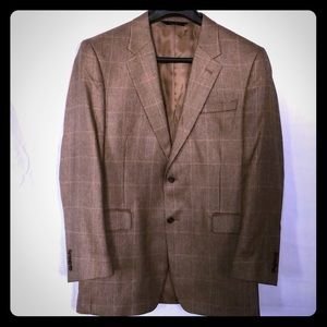 Men's sport coat made of silk & Camel hair sz 43L